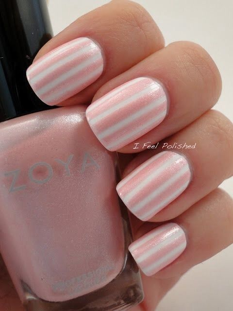 Pink And White Stripe Nails Pictures Photos And Images For Facebook Tumblr Pinterest And