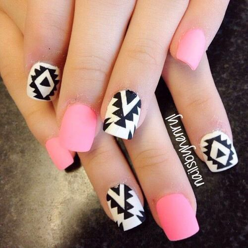 Pink and white tribal nails pictures photos and images for pink and white tribal nails prinsesfo Image collections