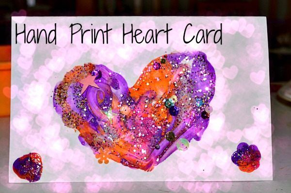 Heart Quotes With Pictures And Cards: Hand Print Heart Card For Valentines Day Pictures, Photos