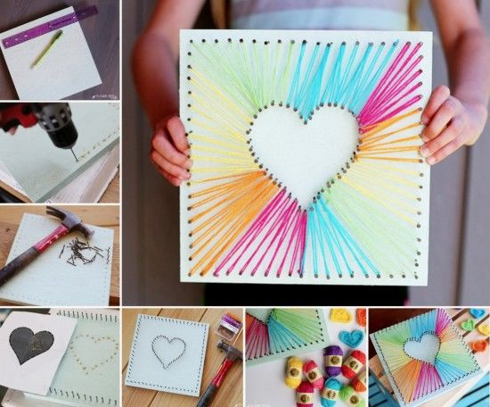 DIY String Heart Art Pictures Photos And Images For