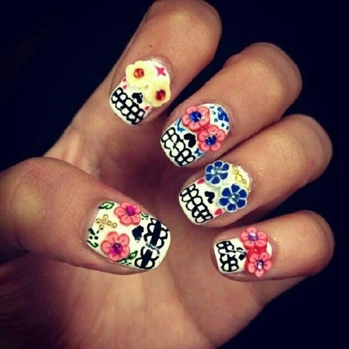 Sugar Skull Nail Art Pictures Photos And Images For Facebook