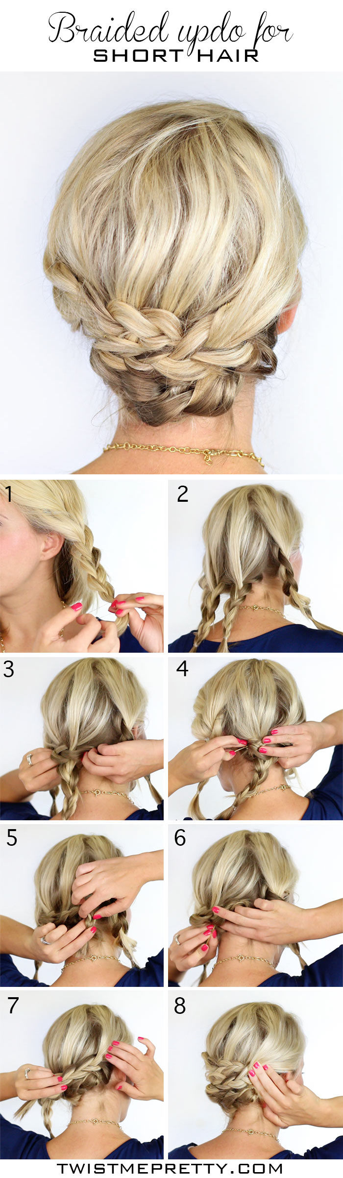Astounding Braided Updo For Short Hair Pictures Photos And Images For Short Hairstyles Gunalazisus