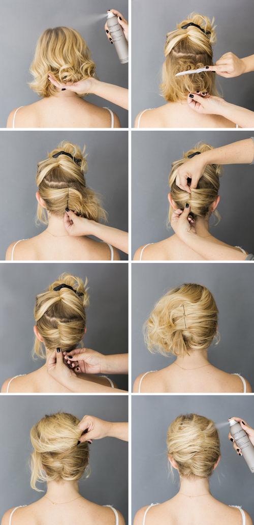 Причёски на короткий редкий волос своими руками