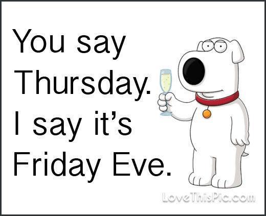fridays eve with dog wine