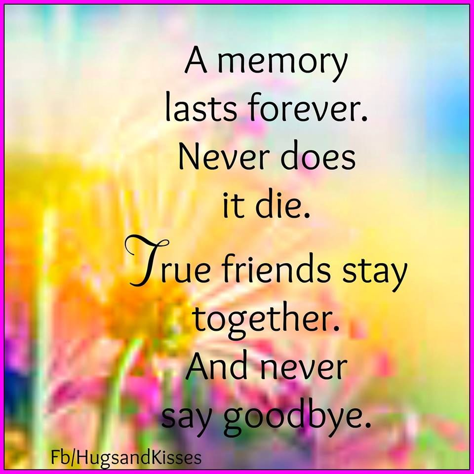 True Friends Stay Together And Never Say Goodye Pictures Photos And Images For Facebook