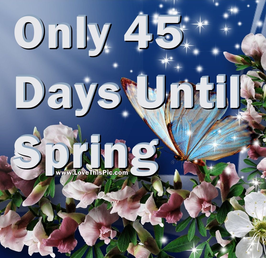 Only 45 Days Until Spring Pictures Photos And Images For