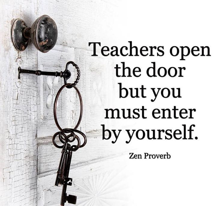 Teachers Open Door But Must Enter Yourself