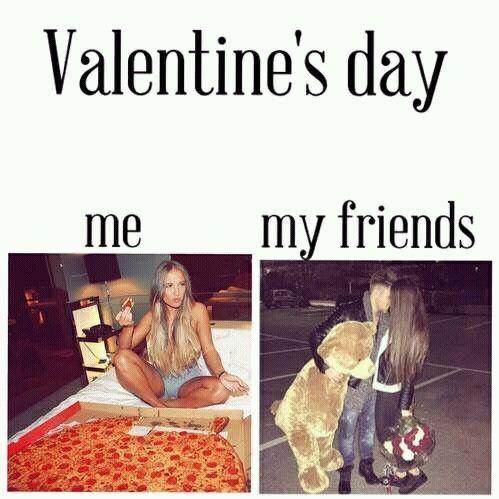 Me Vs. My Friends On Valentineu0027s Day
