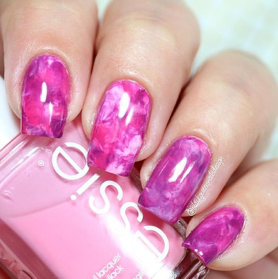 Pink Marble Nails Pictures, Photos, and Images for Facebook, Tumblr ...