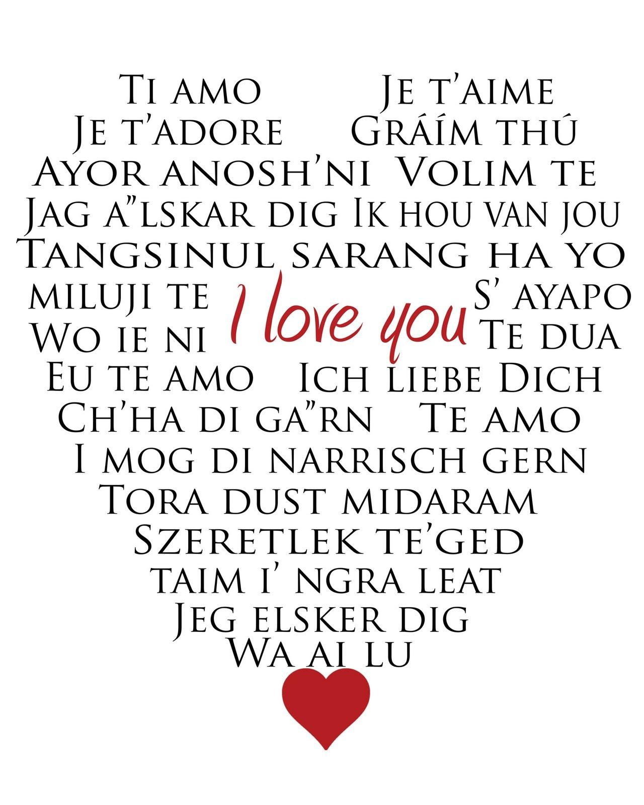I Love You In All Languages Pictures Photos And Images For