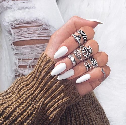 White Nails And Vintage Rings Pictures, Photos, and Images for ...