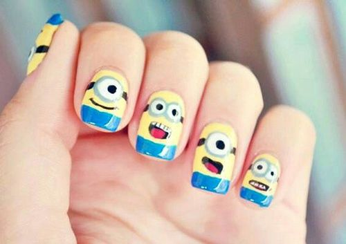 Cute Minion Nail Art Pictures Photos And Images For Facebook