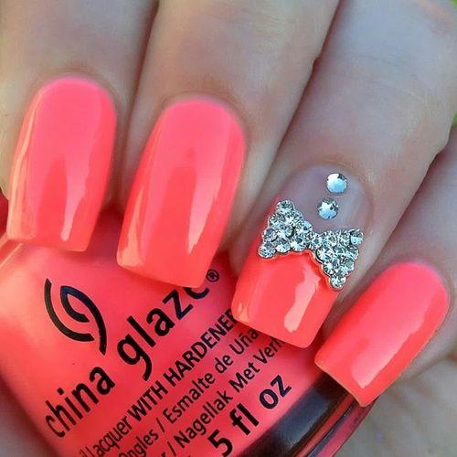 Hot Orange China Glaze Nails