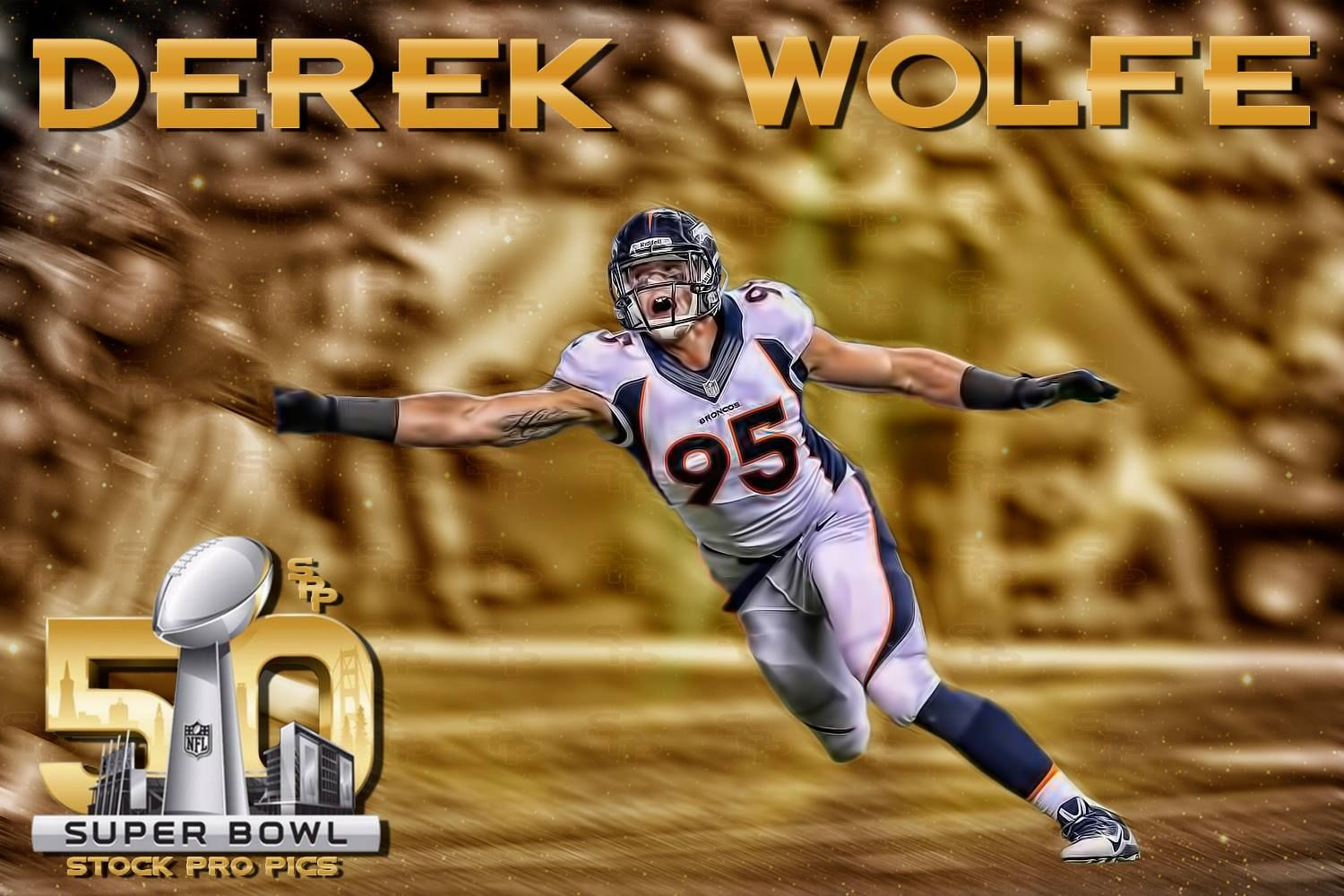 Derek Wolfe Superbowl 50 s and for