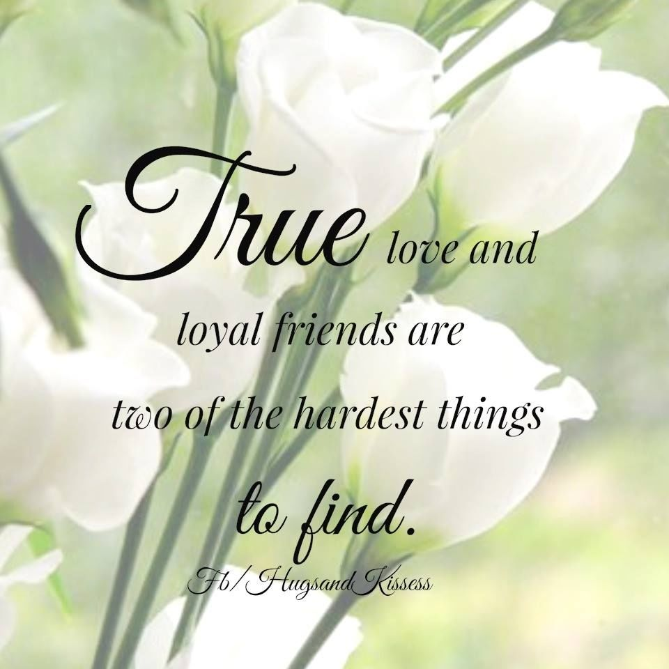 True Love And Loyal Friends Are Two Of The Hardest Things To Find