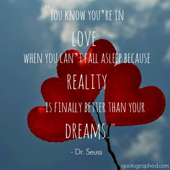 Great Dr. Seuss Quote On Love And Sleep
