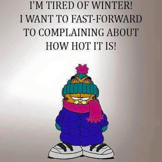 I Am Tired Of Winter I Want To Fast Forward To Complaining