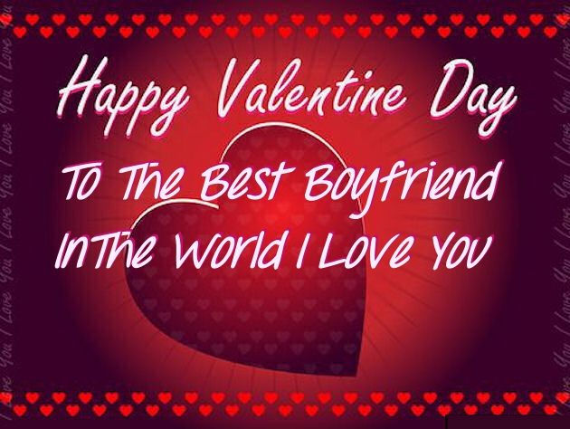 Valentines Day Quotes For Boyfriend Interesting Happy Valentines Day To My Boyfriend Image Quote Pictures Photos