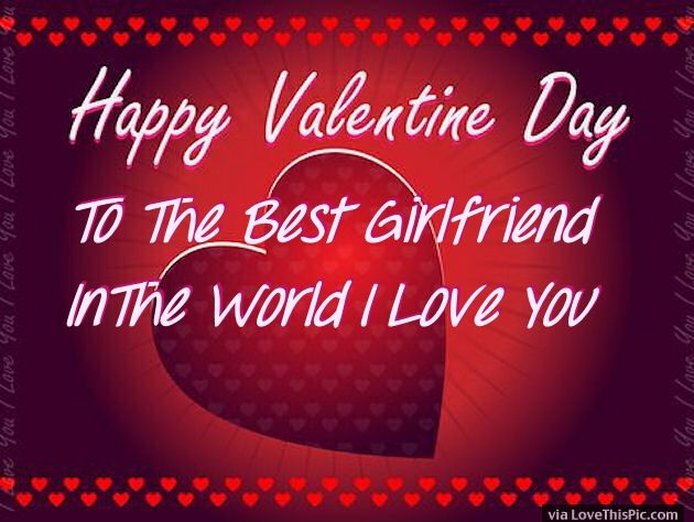 Valentines Day Quotes For Girlfriend Amusing Happy Valentines Day To My Girlfriend Image Quote Pictures Photos