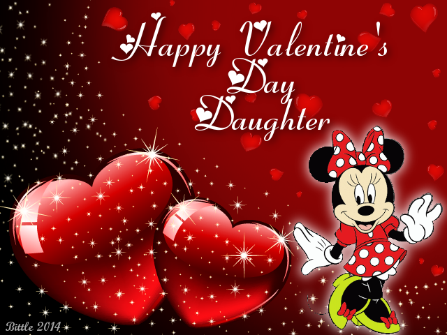 Happy Valentines Day Daughter Pug   Happy Valentine S Day Daughter S And