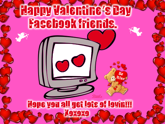 Happy Valentine\'s Day Facebook Friends, Hope You All Get Lots Of ...