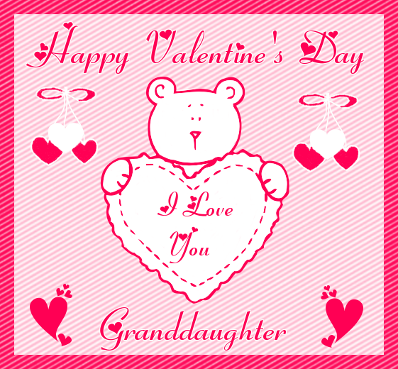 Happy Valentine\'s Day, I Love You Granddaughter Pictures, Photos ...