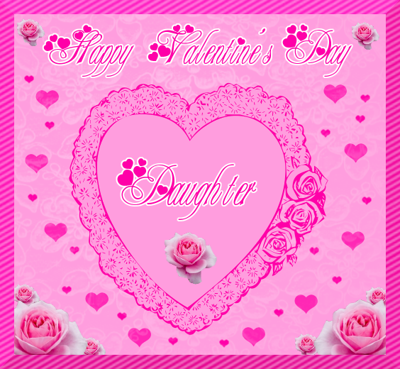 "valentine daughter clipart. for son and ""daughter"" greeting card, Ideas"