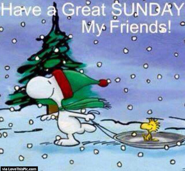 Good Morning Sunday Winter : Have a great sunday my friends snoopy quote pictures