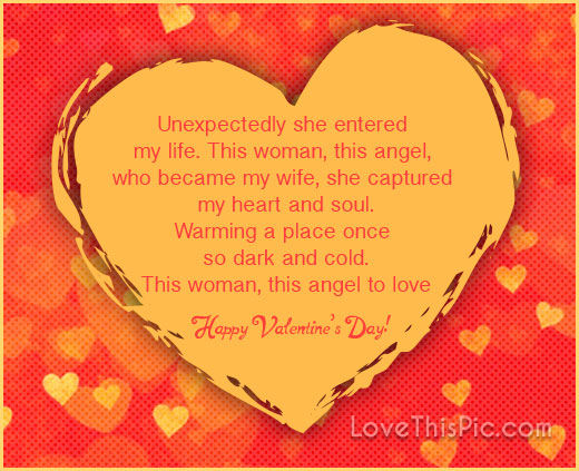 Happy Valentineu0027s Day Poem For Your Wife