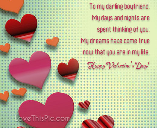To My Darling Boyfriend Happy Valentines Day Pictures ...