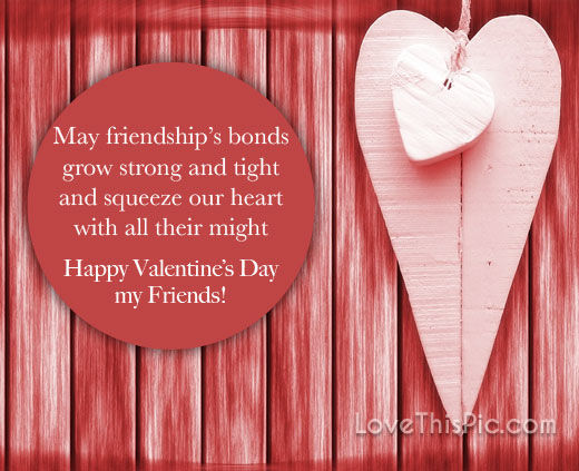 Happy Valentine\'s Day Quote For Friends Pictures, Photos ...