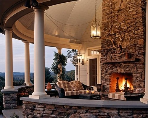 Beautiful stone fireplaces