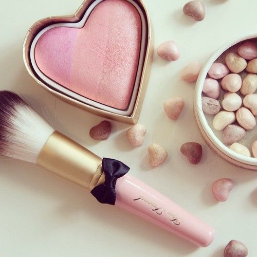 heart blush and makeup brush pictures photos and images
