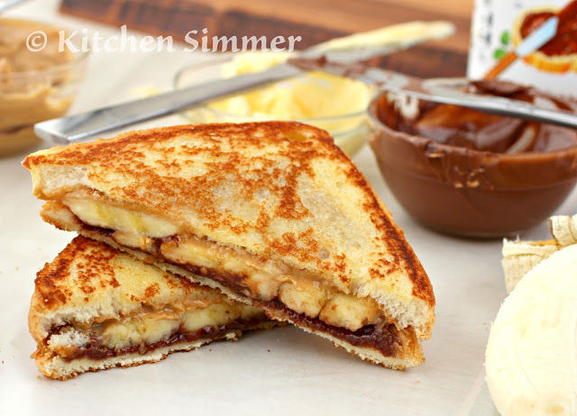 Grilled Peanut Butter Banana And Nutella Sandwich Pictures, Photos ...
