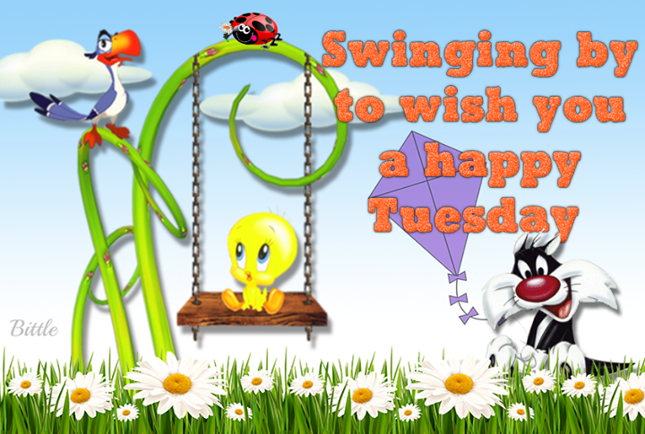Wonderful Swinging By To Wish You A Happy Tuesday Amazing Design