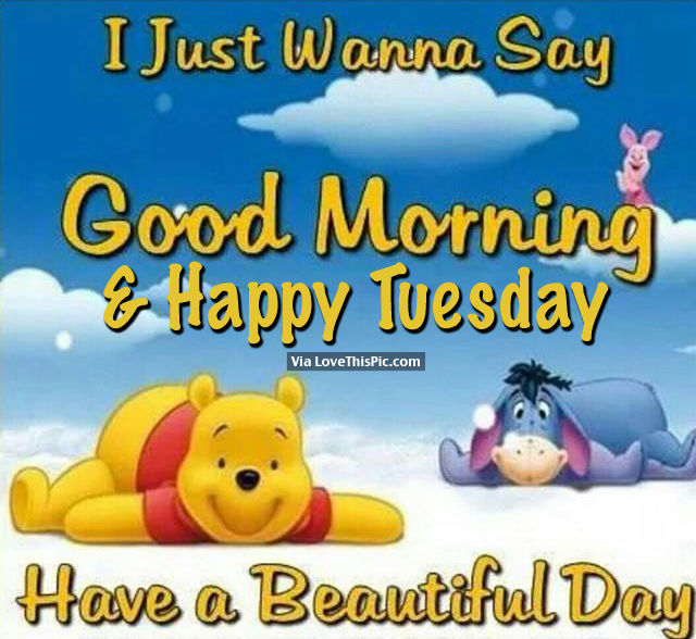 I Just Wanna Say Good Morning Happy Tuesday Have A Beautiful Day