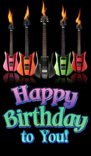 Happy Birthday To You Image With Guitars Pictures Photos