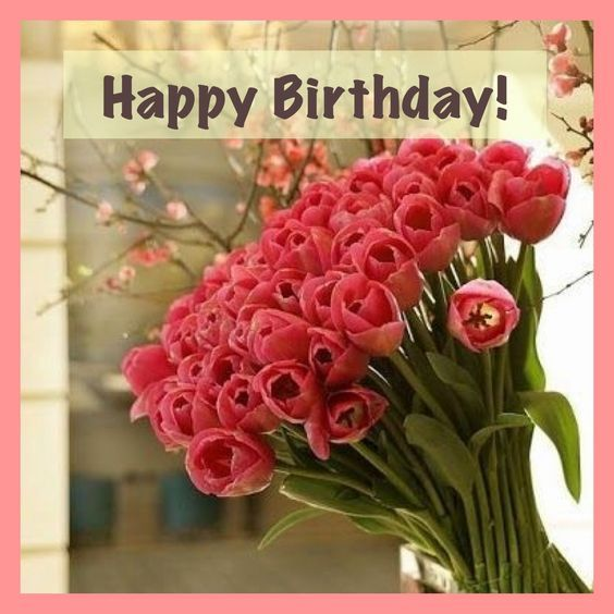 Happy Birthday Image With Beautiful Flowers Pictures