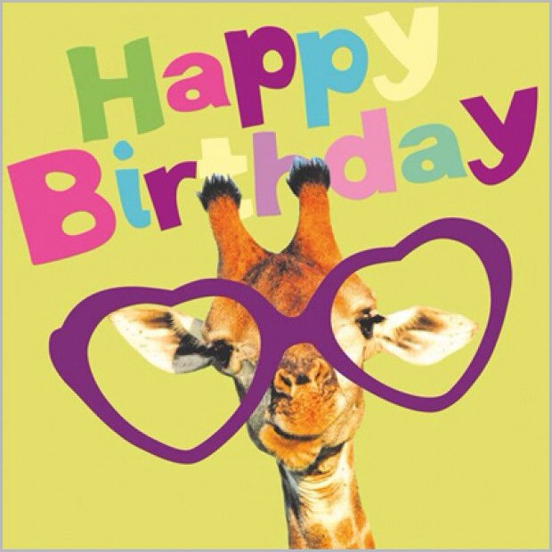 Cute Happy Birthday Giraffe With Quote Pictures, Photos