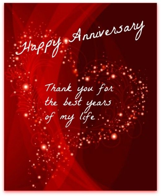 Thank You Quotes For Wife: Happy Anniversary Thank You For The Best Years Of My Life