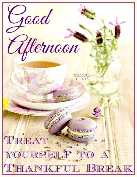 Good Afternoon Picture Quotes: Good Afternoon Treat Yourself To A Thankful Break Pictures