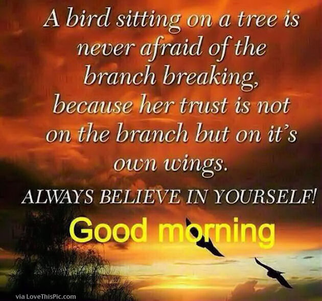 Good Morning Christian Quotes: Good Morning Always Believe In Yourself Pictures, Photos