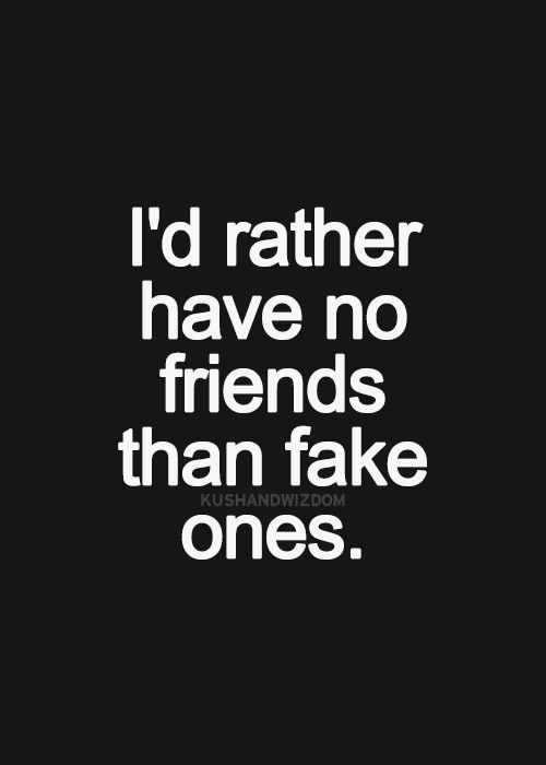 Friendship Quote No Time Has Passed : I would rather have no friends than fake ones pictures