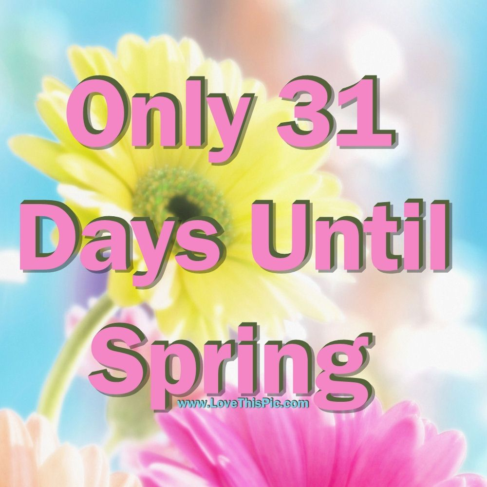 Only 31 Days Until Spring Pictures Photos And Images For Facebook Tumblr Pinterest And Twitter