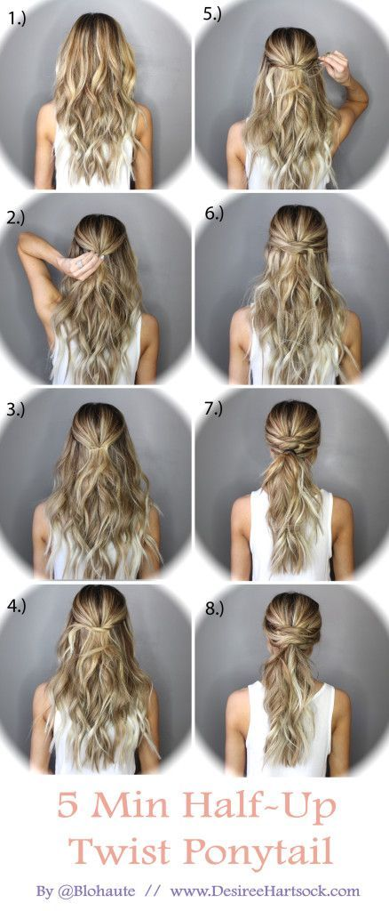 5 Minute Half Up Ponytail Twist Pictures Photos And
