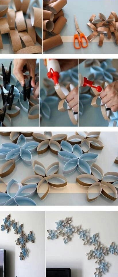 Diy Toilet Paper Rolls Wall Decor Pictures Photos And Images For Facebook Tumblr Pinterest