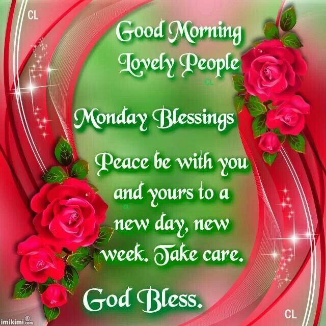 Good morning lovely people monday blessings pictures - Good morning monday images ...