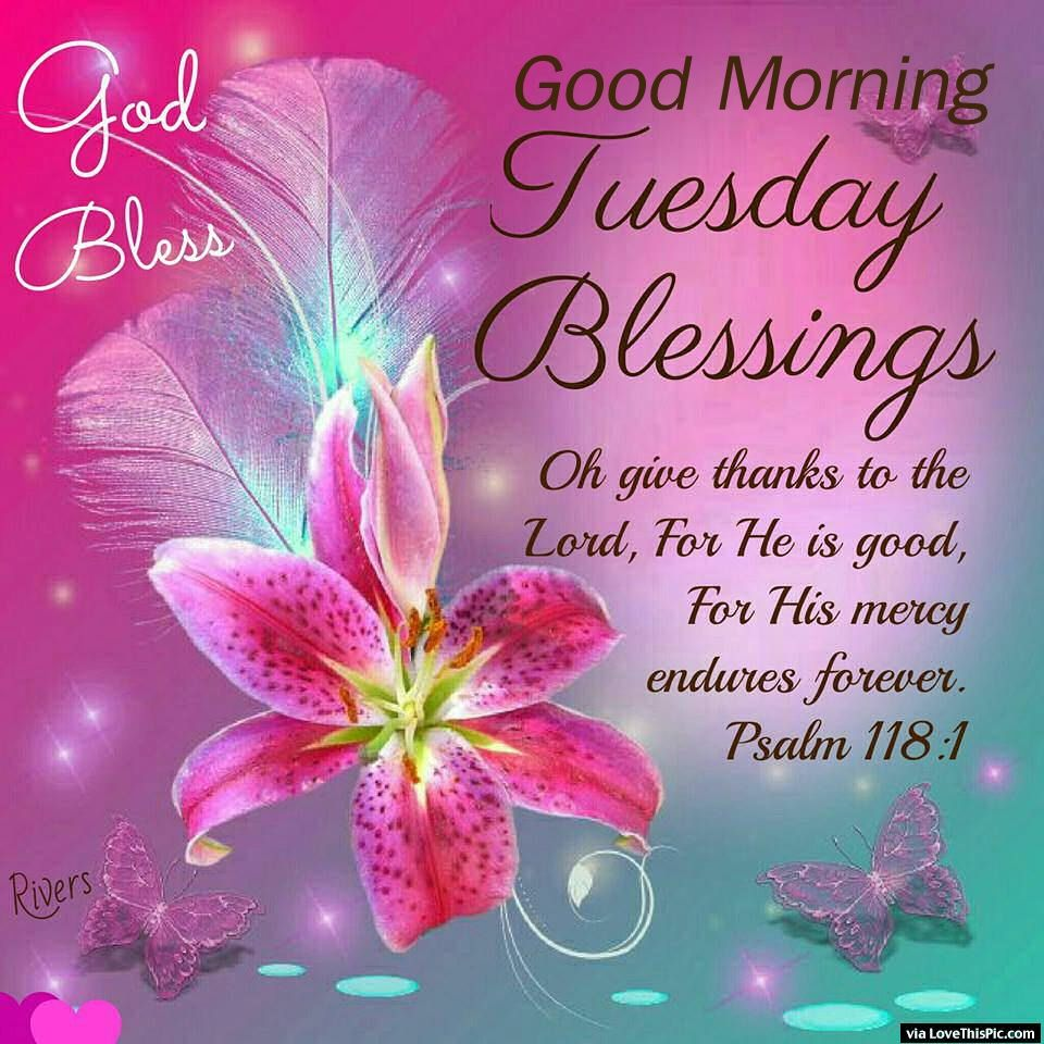 God Bless Good Morning Tuesday Blessings Pictures, Photos, and Images for Facebook, Tumblr, Pinterest, and Twitter