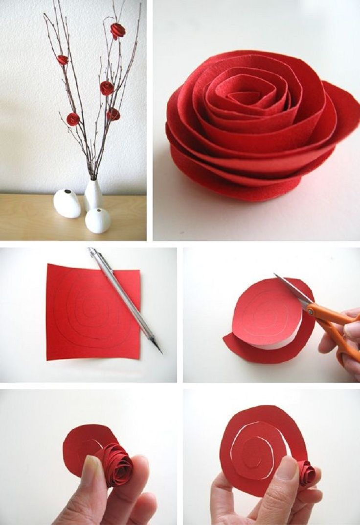 How To Diy Easy Paper Rose From Template Pictures Pin