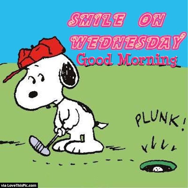 Smile On Wednesday Good Morning Snoopy Quote